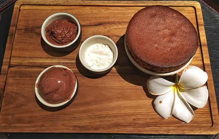 Chocolate soufflé, Dava Steak Bar and Grill