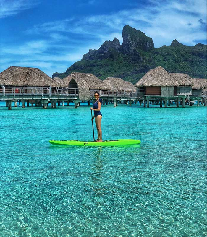 Standup paddle board on the lagoon