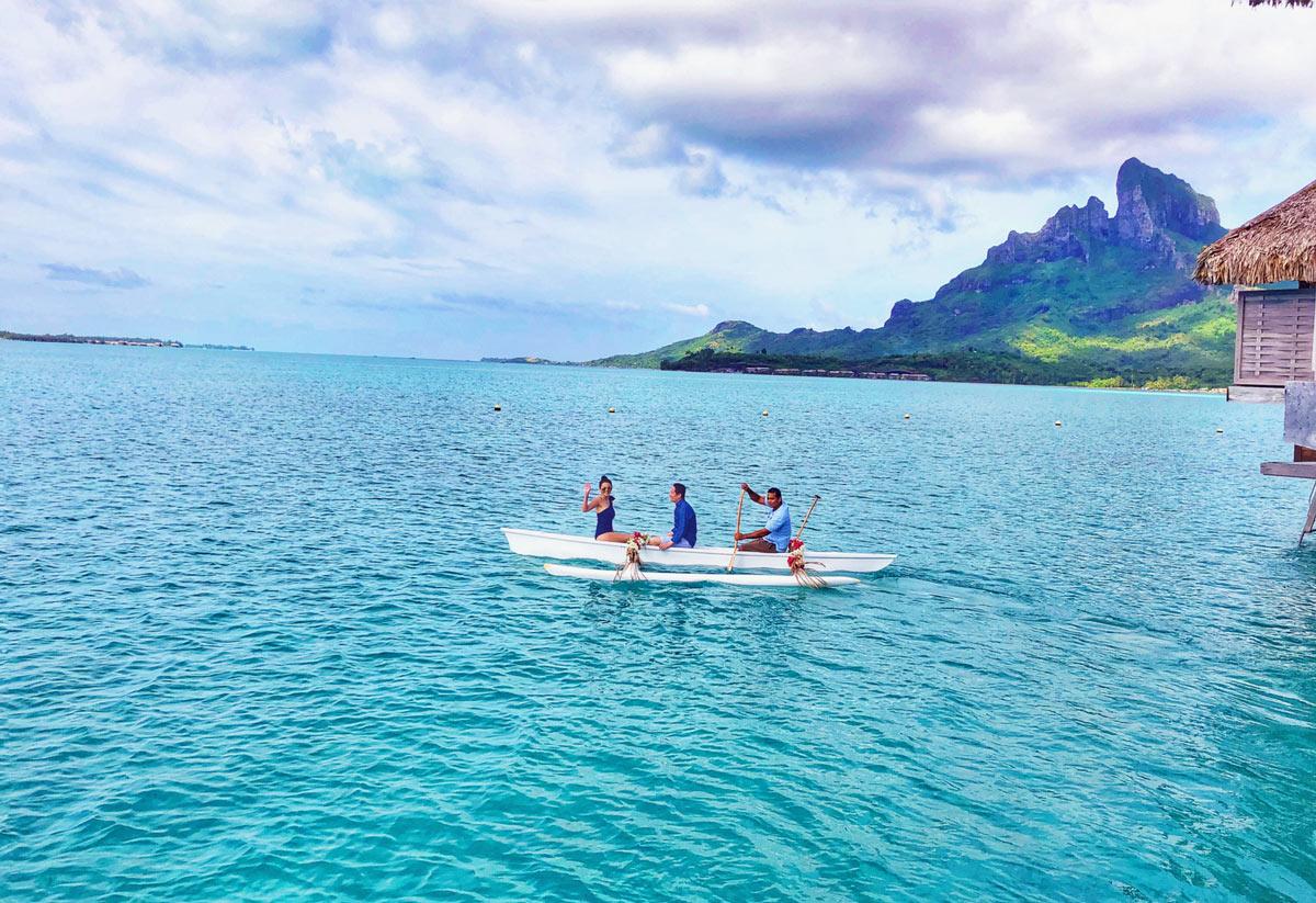 Canoe ride on the lagoon