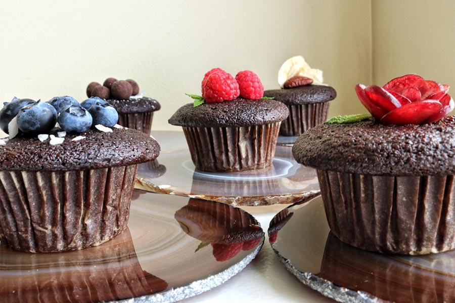 Assortment of cupcakes ( Blueberries, Cherry, Raspberry, Chocolate Hazelnut, Banana and Pecan)