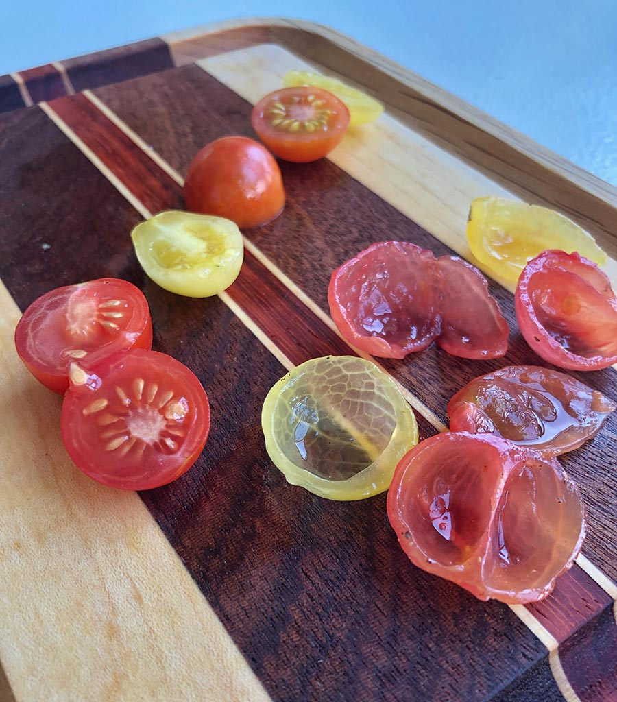 Deseeded tomatoes